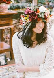floral headpiece 16 flower crowns for your fall wedding brit co