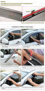 nissan murano door trim clips 4pcs car window visor vent shade rain sun guard for 2015 2016 up