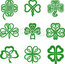 collection of celtic knot shamrocks including three and four leaf