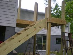 Stairs With Landing by Deck Stairs Construction Stair Design Ideas