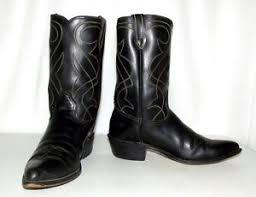 womens black cowboy boots size 9 vintage rockabilly wear black cowboy boots mens size 9 d