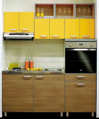 Home Interior Kitchen Design Kitchen Interior Furniture Wall Mounted Yellow Wooden