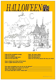 halloween young learners worksheet free esl printable worksheets