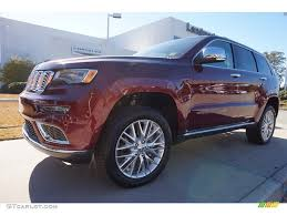 red jeep 2017 2017 velvet red pearl jeep grand cherokee summit 4x4 117062795