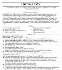 Resume Objective Financial Analyst Sample Of Financial Analyst Resume Professional Resume Objective