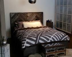 reclaimed wood platform bed barn wood bed frame modern lodge