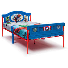 superhero twin children bed with support legs for boys of 14