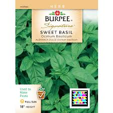 cheap seed packets shop burpee basil herb seed packet at lowes