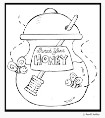 apple and honey coloring pages murderthestout