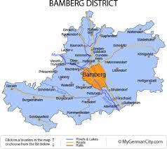 bamberg germany map bamberg district the switzerland of franconia