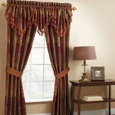 Red Orange Curtains Orange Patterned Curtains Retro Geometric Pattern Curtains Drapes
