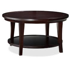 espresso square coffee table metropolitan round coffee table pottery barn modern espresso