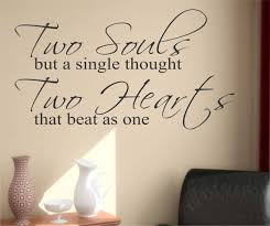 pre wedding quotes two souls two hearts quote vinyl wall lettering vinyl wall