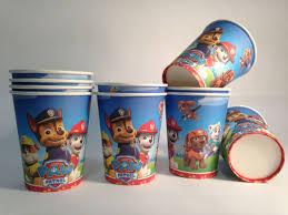 paw patrol paper cups 10 pcs paper cups children u0027s