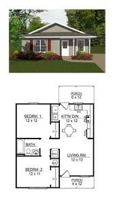 Two Bedroom Cabin Plans 2 Bedroom Bungalow Floor Plan Plan And Two Generously Sized