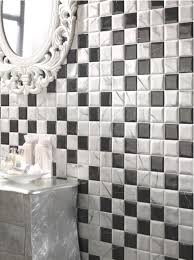 black and white tile is a huge bath trend
