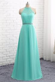 bridesmaid dress 2018 mint chiffon a line neckline bridesmaid dresses