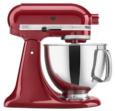 Kitchen Accessories In Red - kitchen kitchenaid mixers stand in red with stainless bowl also