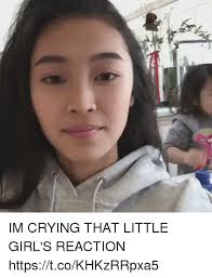 Meme Little Girl - im crying that little girl s reaction httpstcokhkzrrpxa5 crying