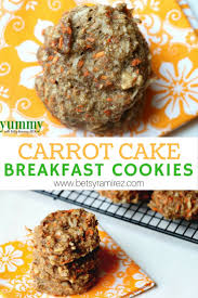 carrot cake breakfast cookies gluten free dairy free betsy