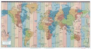 Map Of Time Large Time Zones Map Of The World U2013 2015 Vidiani Com Maps Of