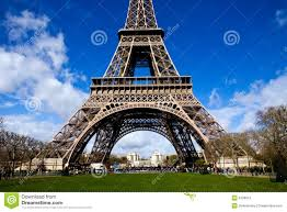 beautiful view of the eiffel tower in paris royalty free stock
