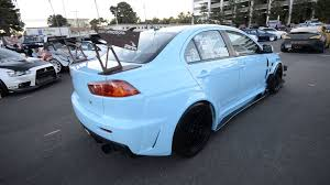 widebody evo baby blue varis widebody evo x youtube