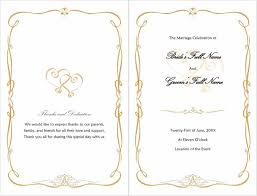 wedding bulletins templates 37 printable wedding program exles templates template lab