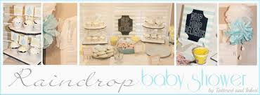 tattered and inked gender neutral raindrop baby shower with
