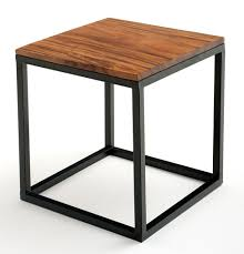 wood metal end table contemporary rustic end table soft wood modern table