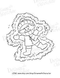 snow angels coloring pages