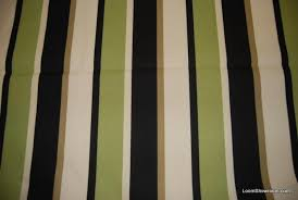 Striped Upholstery Fabric Classic Stripe Green Black And Beige Wide Stripe Outdoor Fabric
