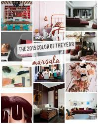 home design trends spring 2015 marsala pantone color of the year 2015 diy home decor