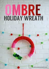 Homemade Christmas Wreaths by Diy Christmas Wreath Homemade Ginger