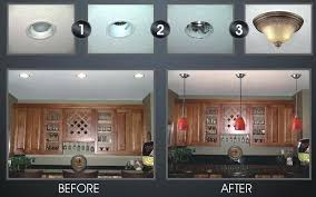 Changing Recessed Lighting To Pendant Lighting Replace Recessed Light With Pendant Kitchen Lighting Exle
