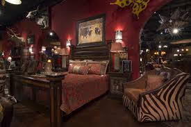 Western Bedroom Furniture Cheap Rustic Bedroom Furniture Unpolished Hickory Wood King Bed