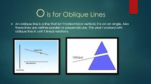 a to z math project by austin wahl a is for algebra tiles o is for oblique lines an oblique line is a line that isn t
