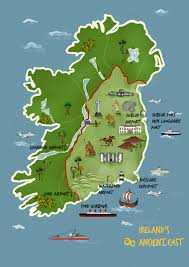 map of ireland u0027s ancient east