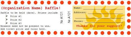 winning raffle ticket template