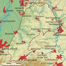 Germany Physical Map by Kraichgau Wikipedia