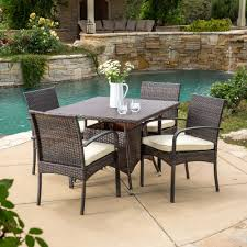 Resin Wicker Patio Dining Set - best selling home decor coronado 5 piece outdoor wicker square