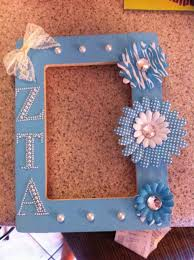 sorority picture frame diy letters crafthubs