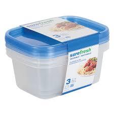 bulk 24 oz sure fresh small rectangular storage containers 3 ct