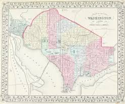 Maps Washington Dc by Washington Dc Baltimore Antique Mitchell Map 1881 Historic Accents