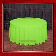 lime green table runner sale 108 r neon green 210gsm polyester plain table cloth for