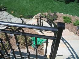 outdoor wrought iron stair railing kits durable outdoor wrought