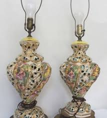 Antique Porcelain Table Lamps Capodimonte Italy Antique Porcelain Cherub Table Lamp Lamps