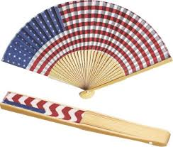 handheld fans cotton held folding fan american flag and floral prints