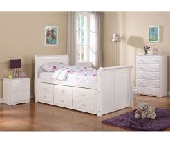 Sleigh Bed With Drawers Sleigh Captains Trundle Bed White Bedroom Furniture Beds