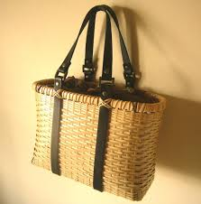 wicker basket with leather handles vintage 1950 u0027s woven basket weave and leather box style handbag